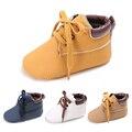 Primavera Otoño Bebés Zapatos Zapatillas Infantiles Del Niño Clásico Primeros Caminante Cordones Prealkers Suave Con Suela de las Zapatillas de deporte