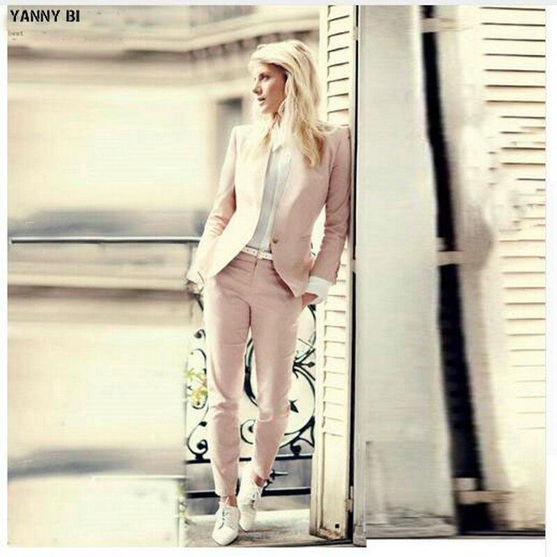 2019 Ensemble Dames multi Bureau Complet Blazer Mode Uniforme Costumes Pantalons Rose Femmes Slim Femme Lumière Pièce Beige 2 De Fit Zq5wn8