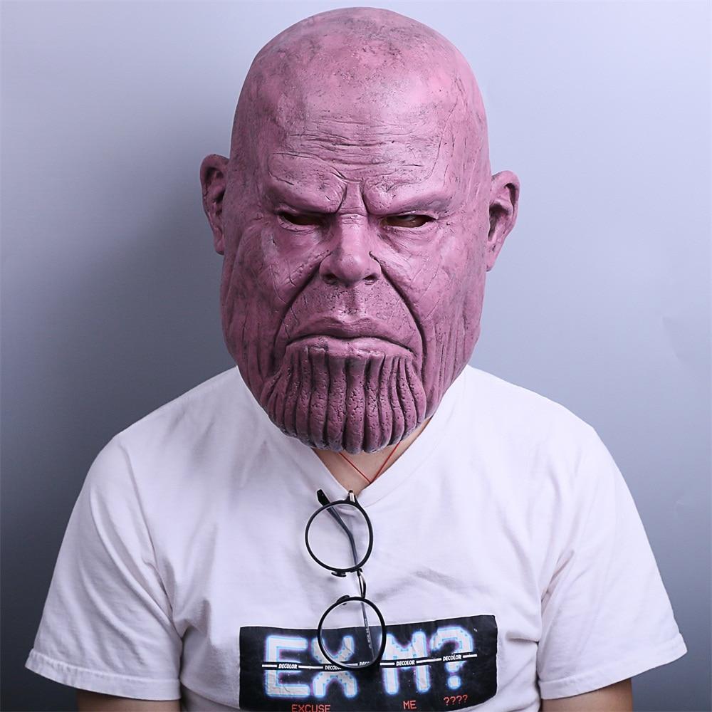 Naujoji 2018 m. Kankina Nekilnojamasis karas Thanos kaukė Cosplay - Karnavaliniai kostiumai - Nuotrauka 2