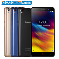 Doogee X100 Mobile Phone MTK6580 Quad Core Android 8.1 1GB RAM 8GB ROM 3G WCDMA 5.0MP Dual SIM Smartphone 4000mAh GPS 5.0inch