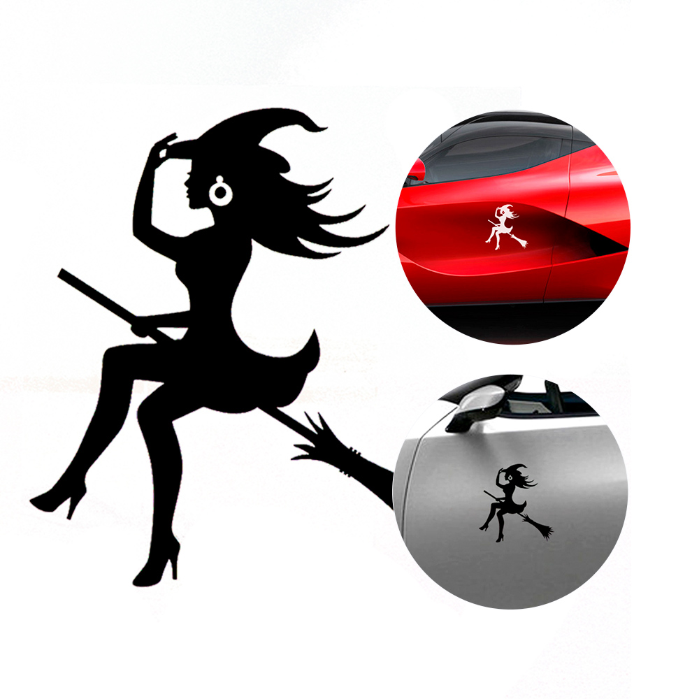 Car-Sticker Vinyl Decals Car-Exterior-Accessories Auto-Styling-Decoration Witch-Shape title=