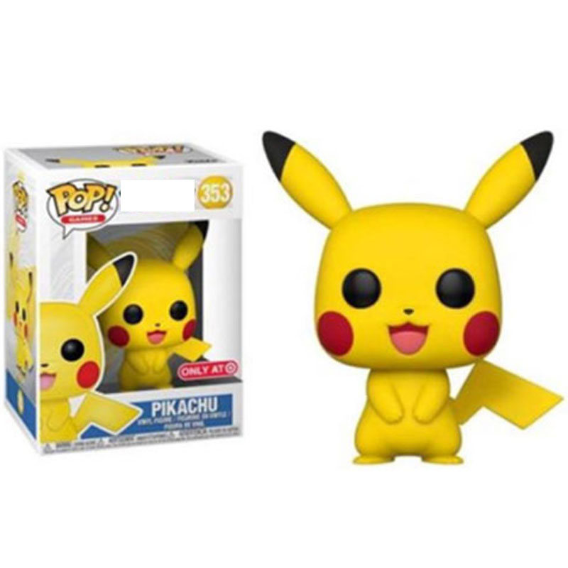 FUNKO POP Anime Cartoon Cute Pikachu Vinyl Action Figures Collection Model toys for Children Birthday Christmas Gifts super bowl ring 2019