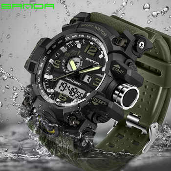 SANDA New S Shock Men Sports Watches Big Dial Sport Watches For Men Luxury Brand LED Digital Military Waterproof Wrist Watches - DISCOUNT ITEM  52% OFF All Category
