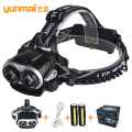 Headlamp Headlight 4000lumen zoomable lampe frontale fishing lanterna led flashlight 2 x xml t6 for camping fishing hunting