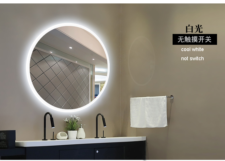 Bathroom Wall Sconce Round Dressing Room Led Mirror Light Bathroom Mirror Light Makeup Lamp Vanity Lighting Makeup Mirror Lamps 5