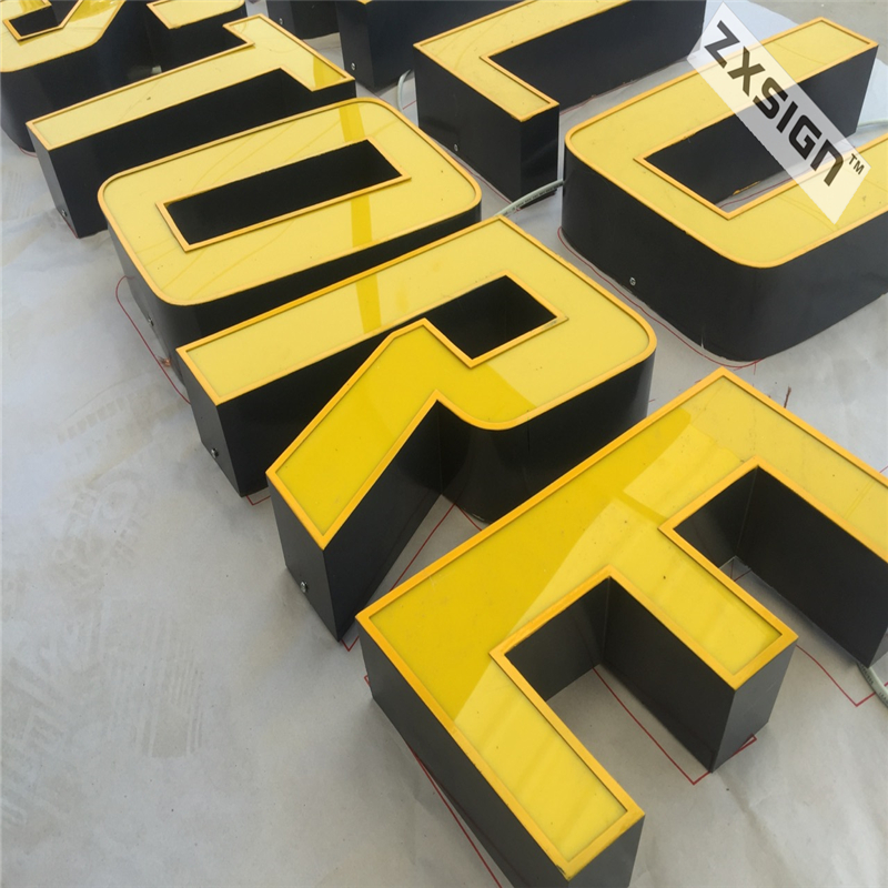 Factory Outdoor Outdoor Galvinized Sheet Return Acrylic Face LED Channel Letter Signs Cheap