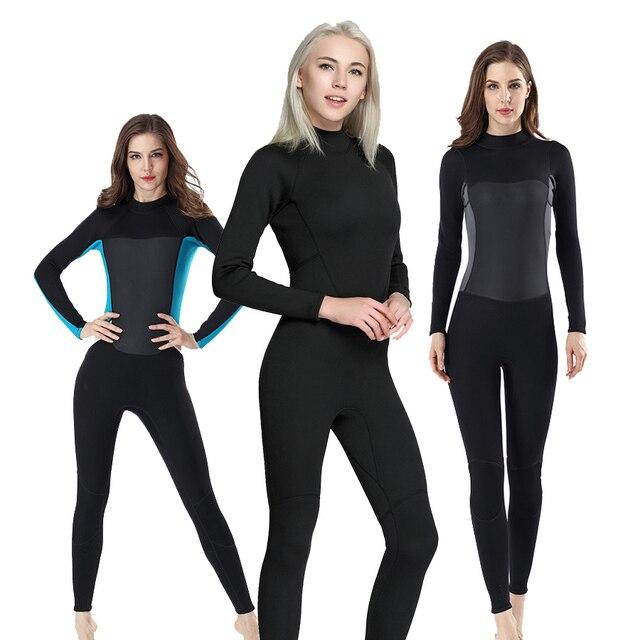 women s 2mm wetsuit Full body Scuba Surfing Diving Wetsuits women Diving  Suits Waterproof Keep Warm girls swimsuit e4964dc93