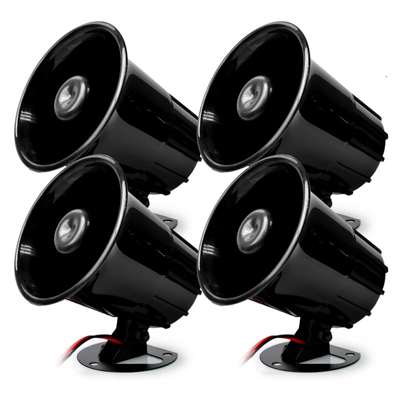 Wired Alarm Siren Horn Outdoor for Wired Alarm System House Safety Sounds Siren 110db Black Color