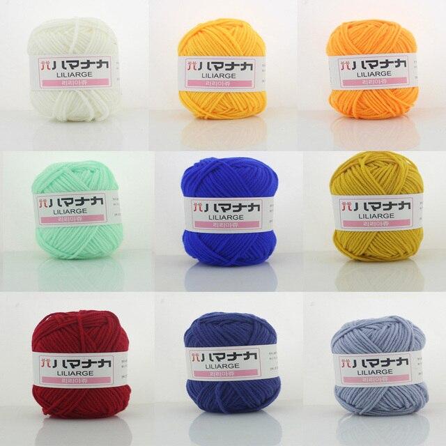 250g Baby Milk Cotton Yarn for hand knitting 25g/ball*10pcsoft knitting cotton scarf thin warm baby yarn hand knitting