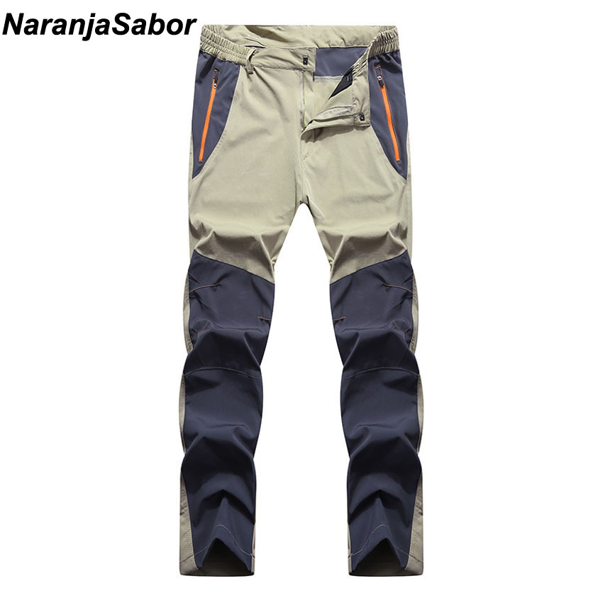 NaranjaSabor Summer Men's Elastic Quick Dry Pants Men Trousers Breathable Pants Male Thin Long Pants Mens Brand Clothing 4XL