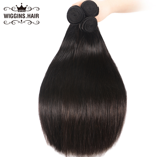 וויגינס שיער פרואני ישר שיער 3 חבילות 8 10 12 14 16 18 20 22 24 26 28 אינץ שיער טבעי חבילות צבע טבעי רמי שיער