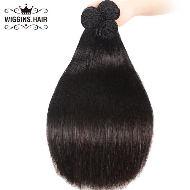 Wiggins Hair Peruvian Straight Hair 3 Bundles 8 10 12 14 16 18 20 22 24 26 28 inch Human Hair Bundles Natural Color Remy Hair