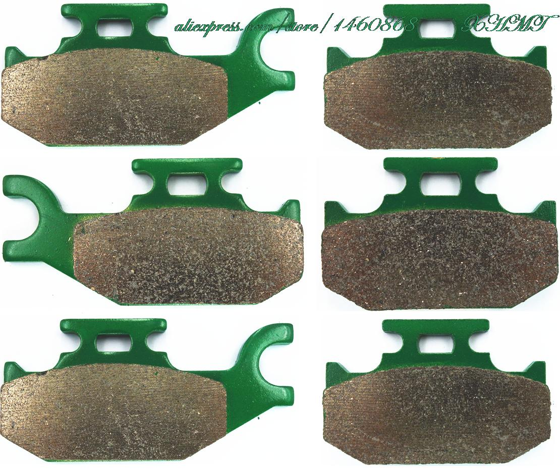 Brake Pads Set for CAN AM ATV Renegade 500 (4x4 EFI) 2008 2009 2010 / 800 (4x4 EFI) (STD X) 2007 2008 / 800 R (EFI X) 2009 2010 brake pads set for derbi gpr50 gpr 50 race replica 2008 2009 senda drd pro 50 05 07 gpr80 gpr 80 cup derbi malossi 2008