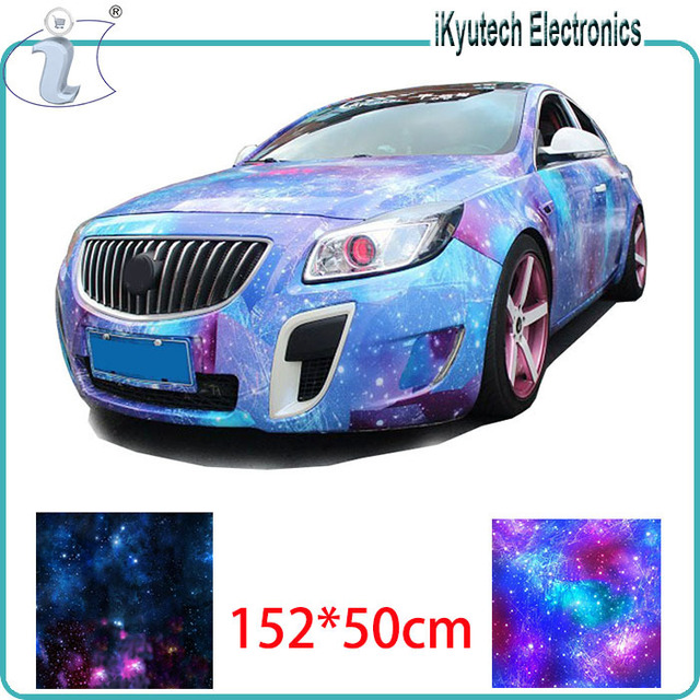152 50cm Stars Smooth High Definition Change Color Film Car Body Protective Paste Sky Map