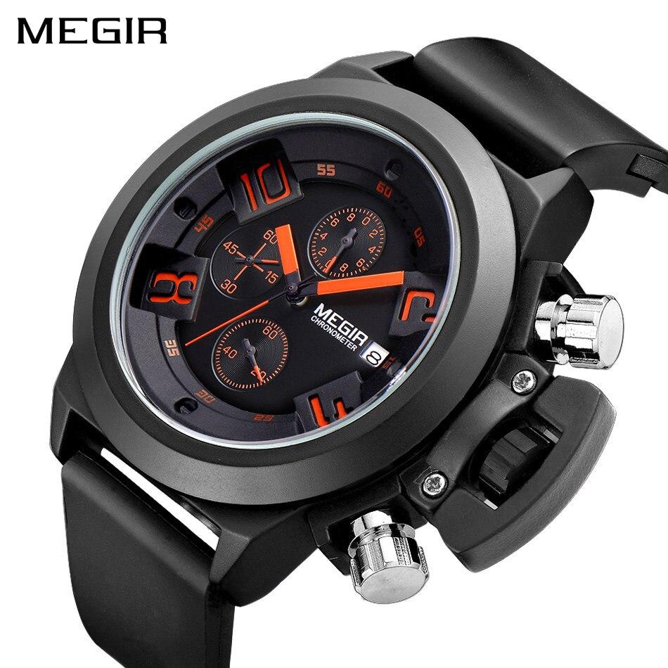 MEGIR Original Watch Men Sport Quartz Mes