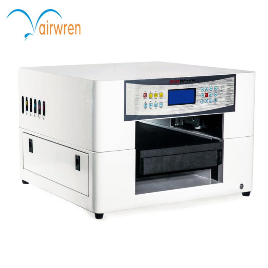 A3 Inkjet Flatbed Printer UV Flatbed Printing Machine With LED Lamp, Water Cooling System