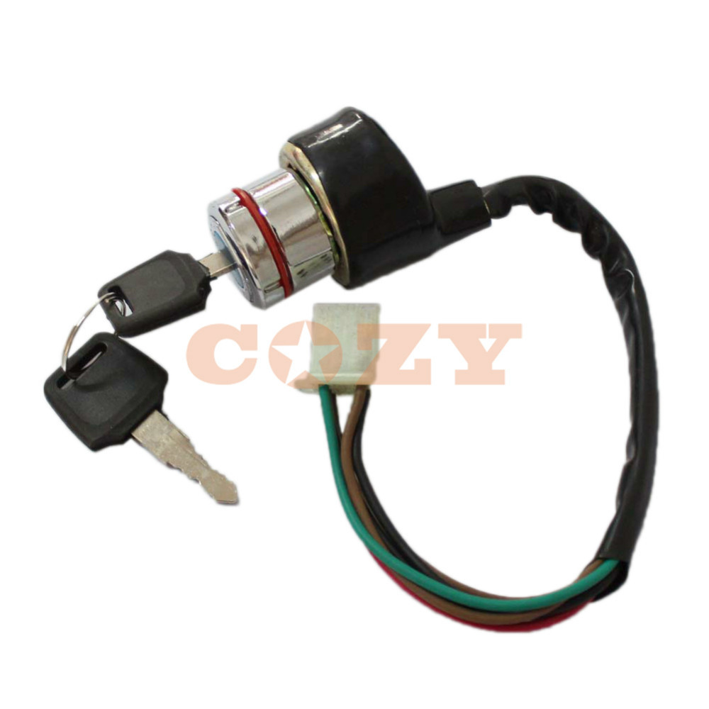 6 wire ignition switch key for dirt bike atv motorcycle use for yamaha suzuki kawasaki scooter [ 1000 x 1000 Pixel ]