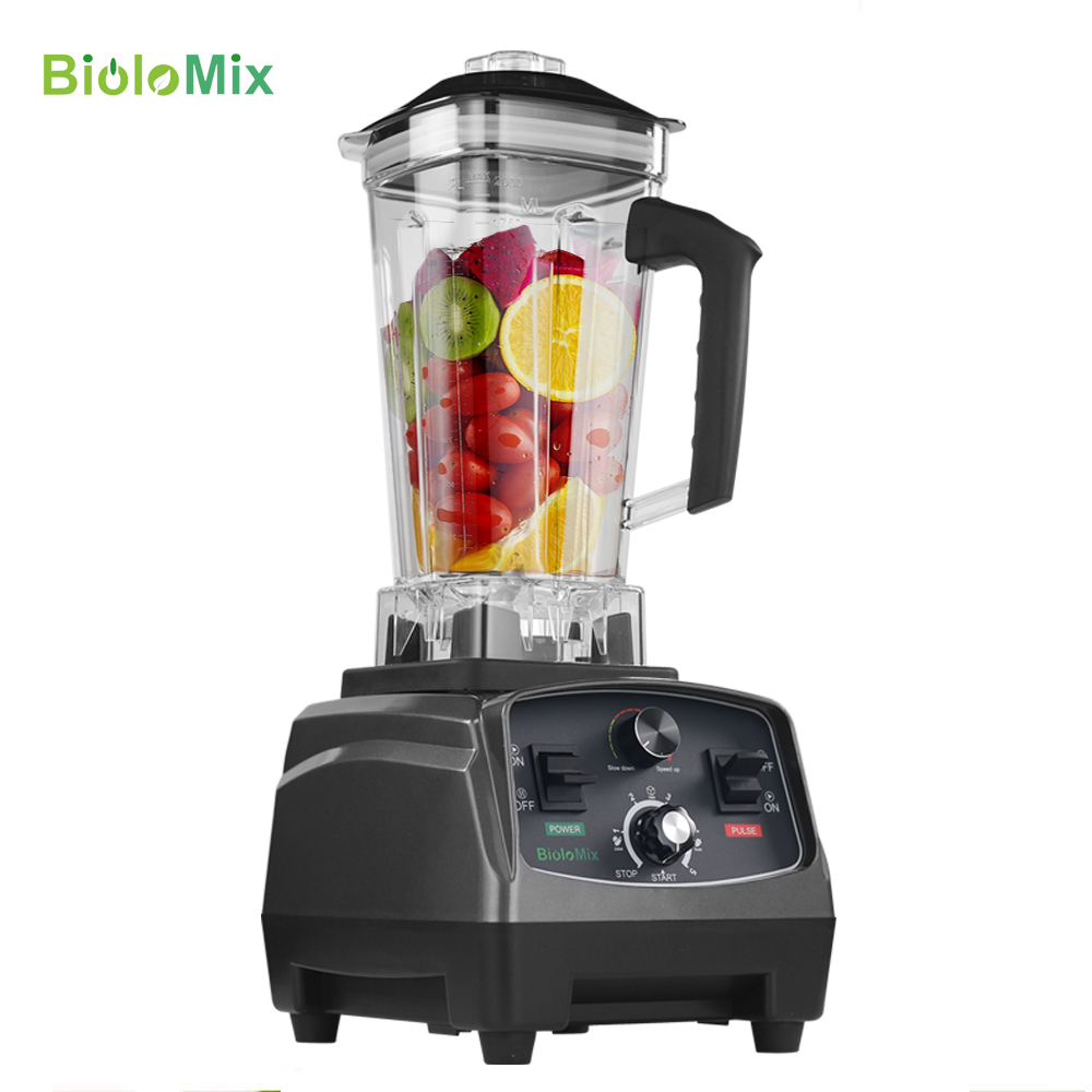 BPA Free Commercial Grade Timer Blender Mixer Heavy Duty Automatic Fruit Juicer Food Processor Ice Crusher Smoothies 2200W máy xay sinh tố của đức