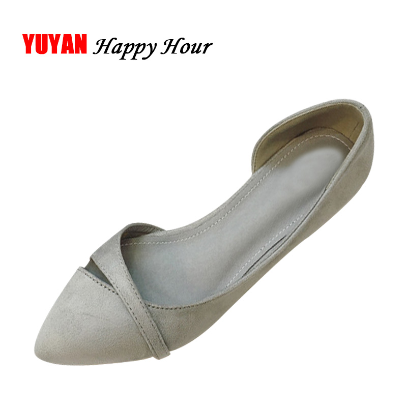 New 2019 High Quality Pointed toe Soft Shoes Women Flats Fashion Women s  Flats Comfortable Ladies Single fb5e3c1a3564