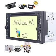 "Wireless Backup camera+6.2"" Android 6.0 Double Din Car Stereo DVD CD Player In Dash Navigation GPS Radio Audio Bluetooth WiFi"