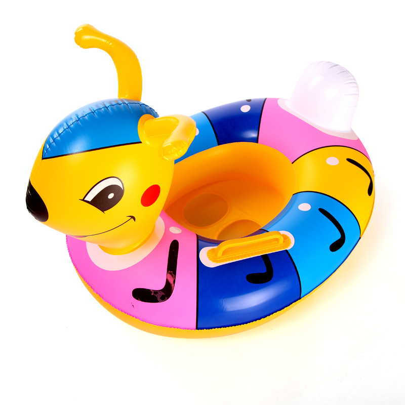 Baby inflatable swim ring thicker cartoon cute ants seat childrens water leisure ants boat 2017 new
