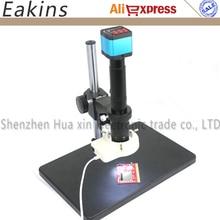 Best price 14MP HDMI HD USB Digital Industry Video Digital Electronic Microscope Camera set+Big Boom Stand+300X C-MOUNT Lens+56 LED Light