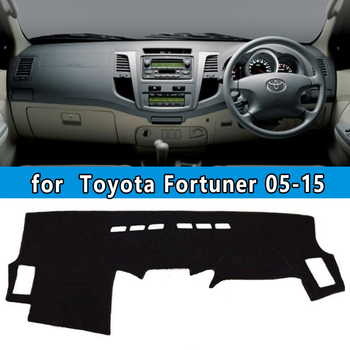 dashmats car-styling accessories dashboard cover for Toyota Fortuner sw4 2004 2005 2006 2007 2008 2009 12 2013 2015 rhd image