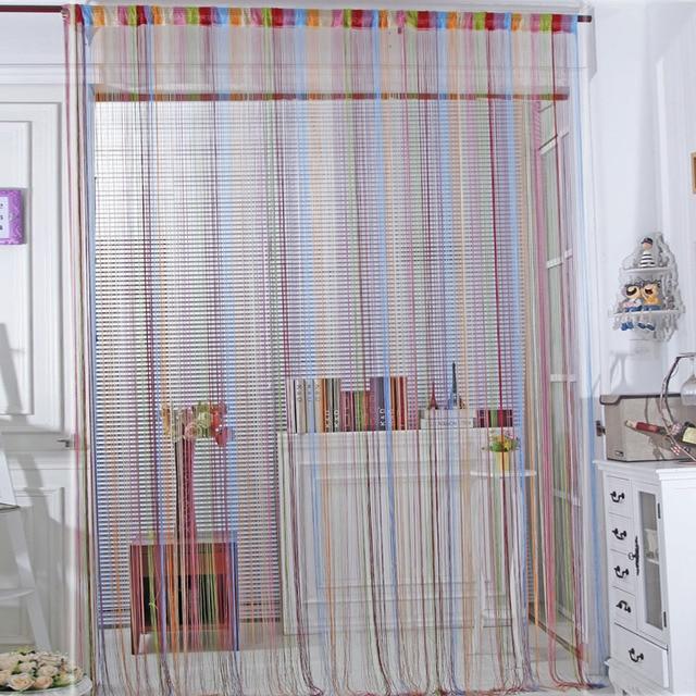 Multicolor Line String Gordijnen 1*2 M Thuis decoratie Blinds Tule ...