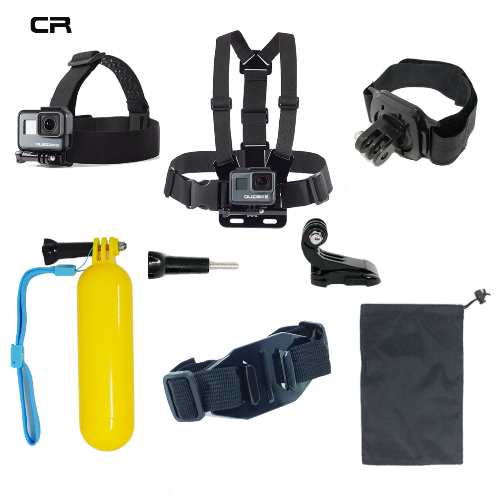 Accessories Set For Gopro Hero 5 6 Chest Mount For Xiaomi Yi 4K SJCAM For Go pro Hero 5 Float Grid Kit For EKEN H9 Action Camera shoot action camera accessories set for gopro hero 5 6 3 4 xiaomi yi 4k sjcam sj4000 h9 chest strap base mount go pro helmet kit