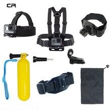 Accessories Set For Gopro Hero 5 6 Chest Mount For Xiaomi Yi 4K SJCAM For Go pro Hero 5 Float Grid Kit For EKEN H9 Action Camera