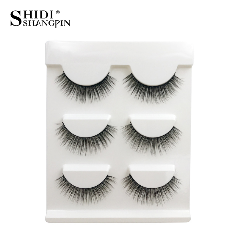 Sweet-Tempered Thick False Eyelashes 1 Box 6 Pairs Handmade Black False Eyelashes Makeup Tips Natural Makeup Long Fake Eye Lashes Individual For Fast Shipping Beauty Essentials False Eyelashes