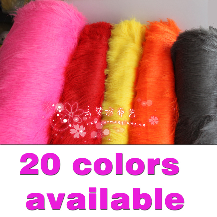 "Solid Shaggy Faux Fur Fabric long Pile Fur Costumes Crafts Photography Props Backdrops Cosplay  60"" wide Sold BY the Yard"