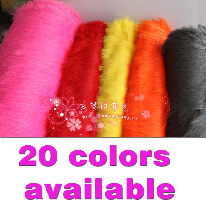 """Solid Shaggy Faux Fur Stof lang bunke Børnetøj Kostumer Håndværk Fotografier Props Baggrunde Cosplay 60 """"bredt solgt ved gården"""