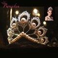 Miss Universo 2017 Tiaras y coronas gigante Concurso de imitación perlas corona de miss Mundo RE484