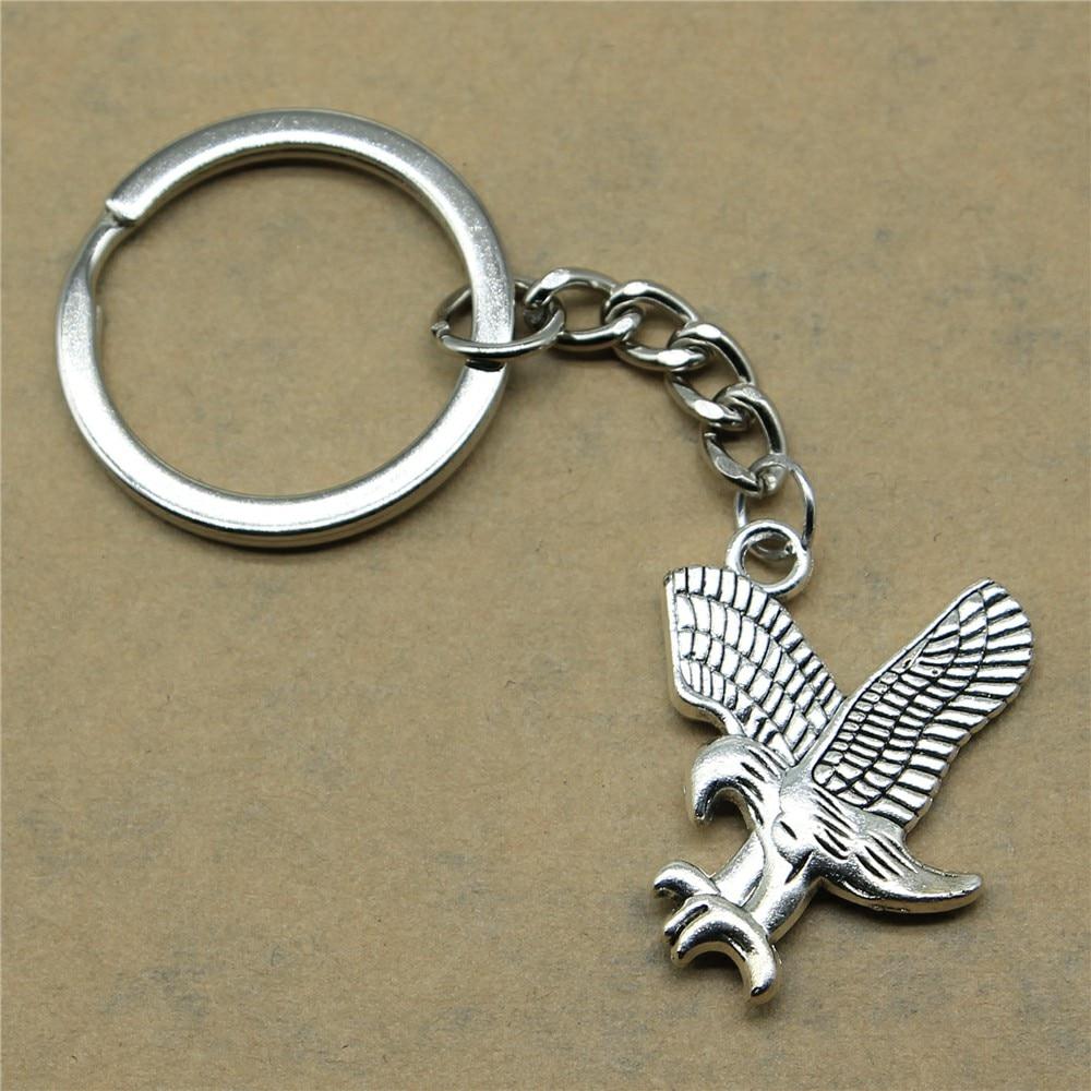 Treu 1 Stück Keychain Ringe Eagle Kreative Handarbeit Geburtstag Geschenke 31x27mm Anhänger Antike Silber