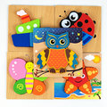 Wooden 3D Puzzle Jigsaw Wooden Toys For Children Cartoon Animal Puzzle Intelligence Wooden Montessori Educational Toys CC0366H