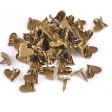 Retro Bronze Heart Brads Scrapbooking Embellishment Fastener Metal Crafts For DIY Shoes Decor Accessories 50pcs 11x10mm c1514