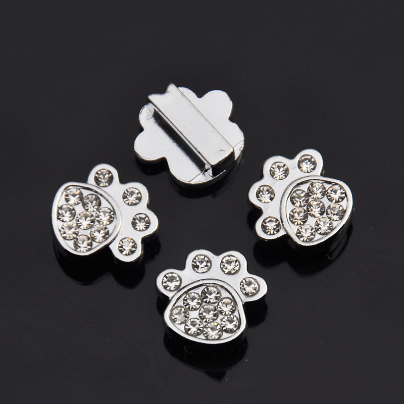 (100 Pieces/lot) 10MM Bling Alloy Dog Pet Accessories Letters /Charms for Cat Dog Pet Personalized Name Collars