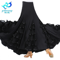 Large Swing Ballroom Dance Skirt Square Dancing Long Skirts Modern Social Dance Skirt Stage Dancewear Latin