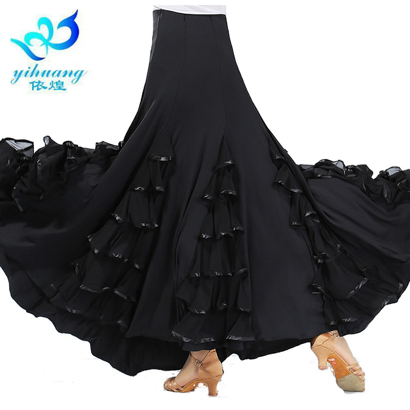 Flamenco Dance Costume Skirt Long Ballroom Dancing Modern Standard Waltz Dancer Dress Spain Dancing Performance Outfits