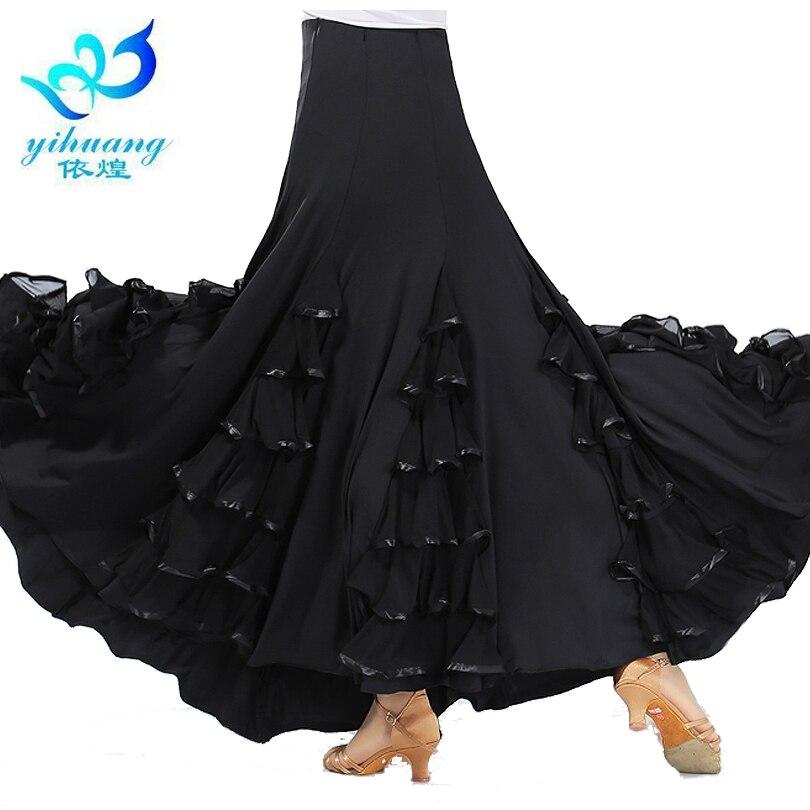 Flamenco Dance Costume Skirt Long Ballroom Dancing Modern Standard Waltz Dancer Dress Spain Dancing Performance Outfits