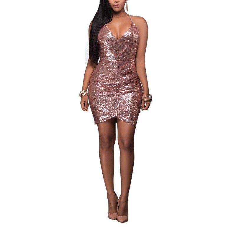 Hot Sexy Diamonds Spaghetti Strap   Above Knee ,Mini   Dress