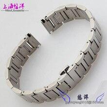 Sólidos de acero inoxidable correa de acero pulsera de metal 14-16mm pulsera de acero inoxidable relojes accesorios