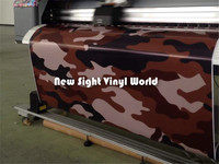 Black Brown Camo Sticker Bomb Car Wrap Brown Urban Camo Vinyl Sheet Bubble Free Car Wrapping Size:1.50*30m/Roll