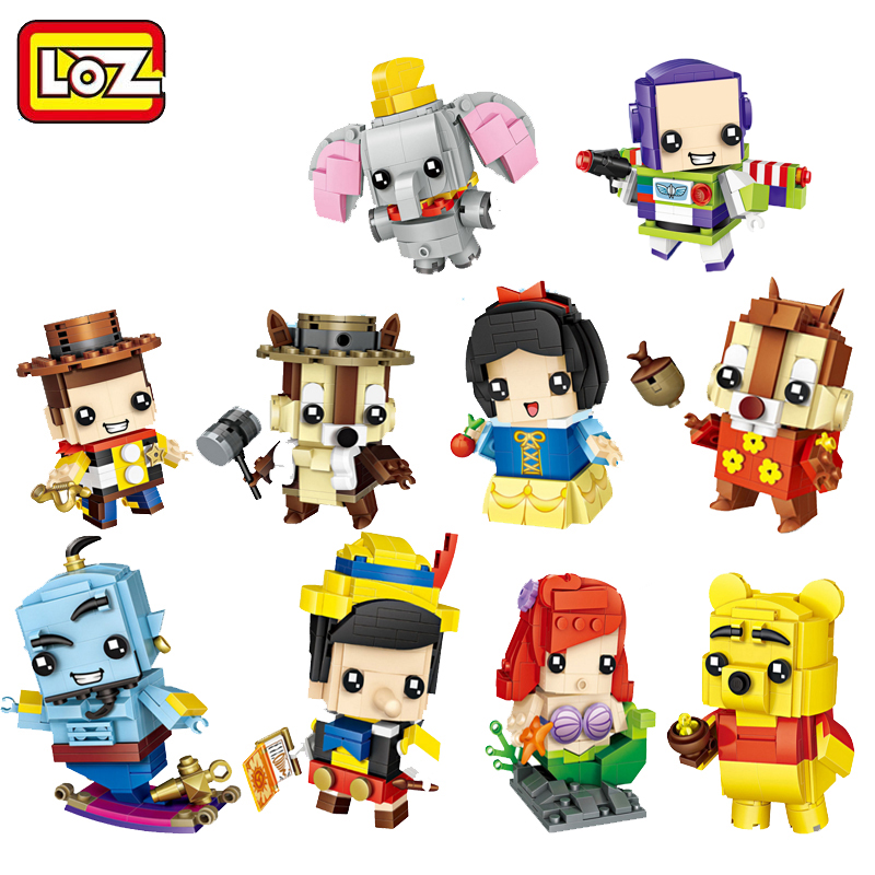 Classic cartoon game Anime role mini diamond building block Squirrel bear Winnie Fly Elephant cowboy Buzz nanoblock brick toys