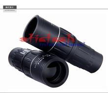 by dhl or ems 100pcs 2016 Hot Sale Newest Arrival Portable 16 x 52 Dual Focus Zoom Optic Lens 16X Monocular Telescope
