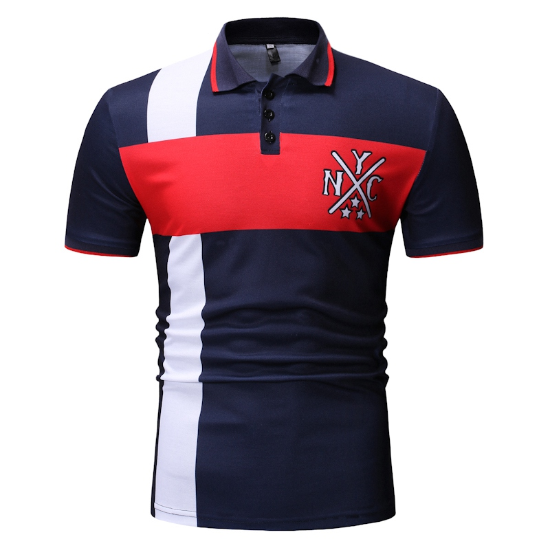 Mens Polo Shirt 2019 Summer Hot Casual Solid Cotton Turn-Down Collar