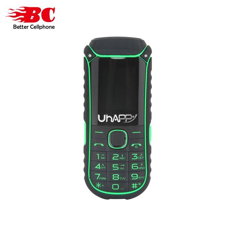 New UHAPPY A5000 Russian Keyboard Flashlight Dual Sim Card 2G GSM 4400mAh Big Battery Long Standby