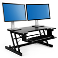 Height Adjustable Standing Desk With Spring Riser Converter Computer Desks