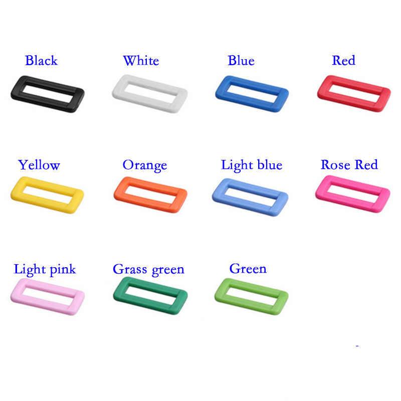 """10 قطعة 1 """"(25 مللي متر) لون البلاستيك حارس حزام حلقة قابل للتعديل الابازيم ل حقائب الظهر الأشرطة حقائب أحذية القط طوق بكلاب لتقوم بها بنفسك اكسسوارات"""